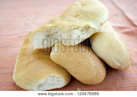 leftovers of bread roll and sandwich called schiacciate