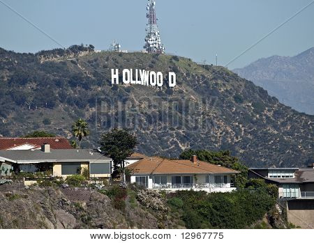 Hollywood Sign And Homes