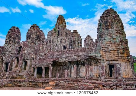 Bayon Temple, Angkor Wat complex, Siem Reap, Cambodia. UNESCO World Heritage Site