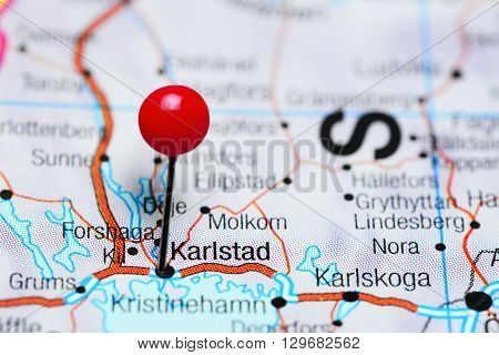 Karlstad pinned on a map of Sweden
