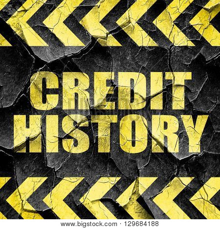 credit history, black and yellow rough hazard stripes