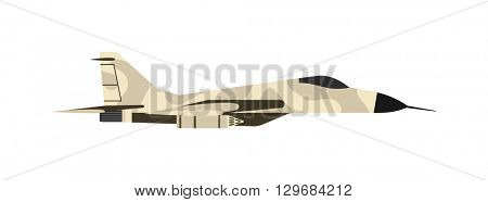 Fighter airplane vector illustration.