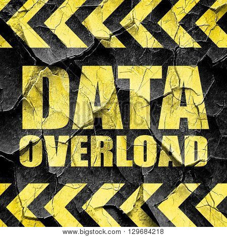 data overload, black and yellow rough hazard stripes