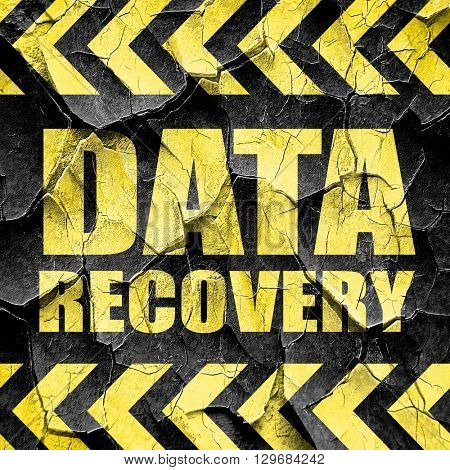 data recovery, black and yellow rough hazard stripes