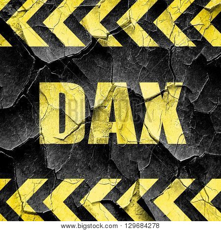 Dax, black and yellow rough hazard stripes