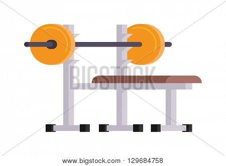 Weightlifting lying vector illustration.