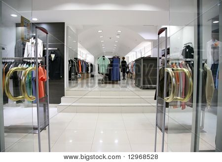Entrance in the clothes department