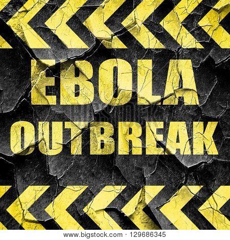Ebola outbreak concept background, black and yellow rough hazard