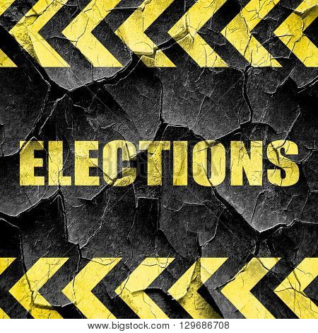 elections, black and yellow rough hazard stripes