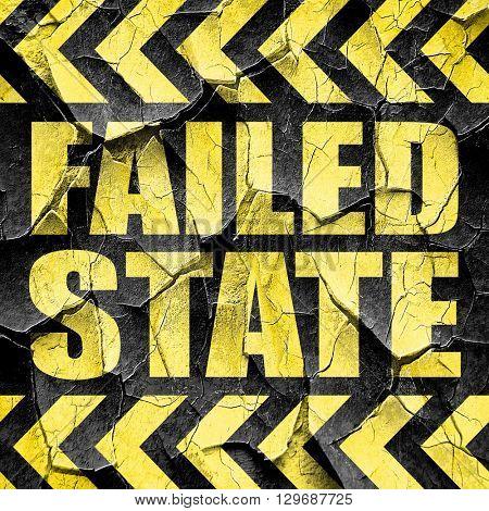 failed state, black and yellow rough hazard stripes