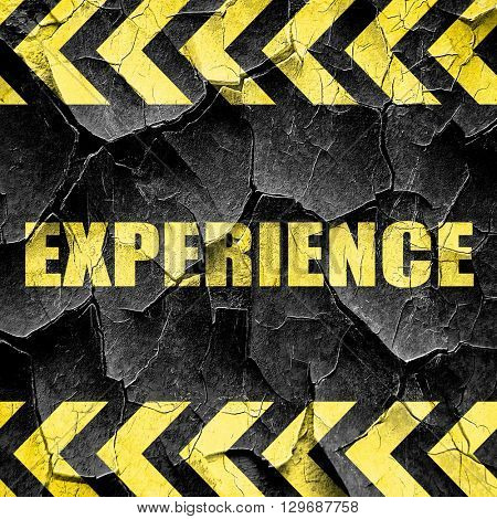 experience, black and yellow rough hazard stripes