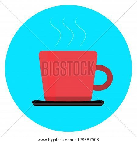 Cup of coffee tea icon. Coffee and coffee mug coffee cup isolated and tea cup cup of tea isolated and mug of tea or vintage tea cup. Vector flat design illustration