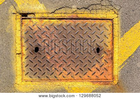 Rusty Access Man Hole Cover