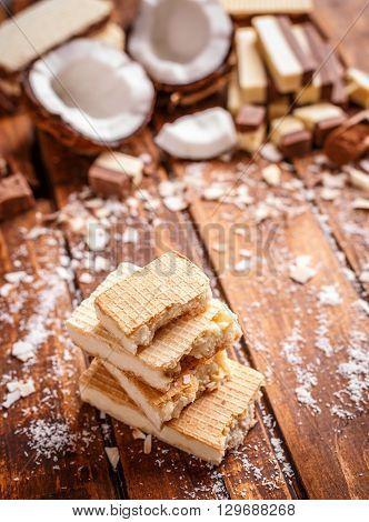 Stack Of Wafer Sandwiches