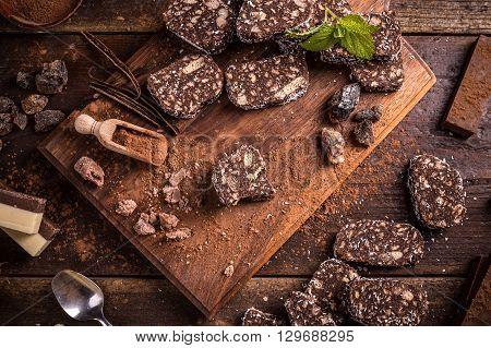 Biscuit Chocolate Salami