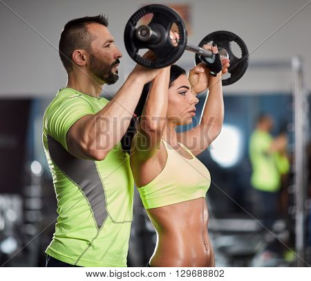 Personal Trainer At Shoulder Workout