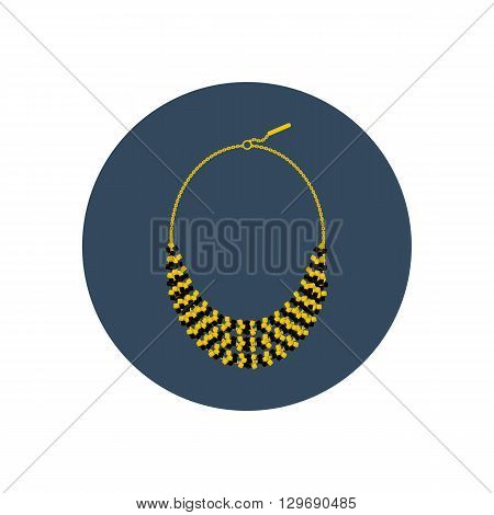 Necklace vector illustration. Jewelry illustration. Vector illustration