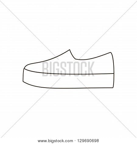 Slipon shoes. Shoes on platform. High platform shoes. Woman shoes. Vector illustration