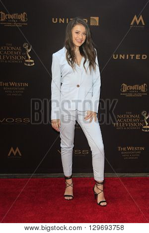 LOS ANGELES - APR 29: Addison Holley at The 43rd Daytime Creative Arts Emmy Awards at the Westin Bonaventure Hotel on April 29, 2016 in Los Angeles, CA