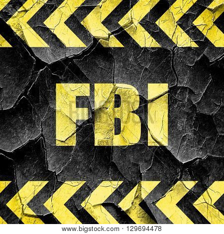 fbi, black and yellow rough hazard stripes