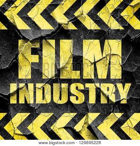 film industry, black and yellow rough hazard stripes