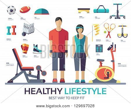 Sport life style infographic device equipment. Fitness icon.