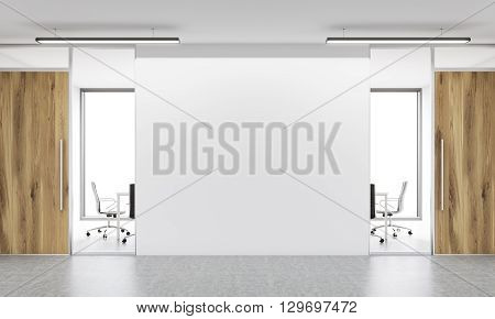 Blank Wall In Office Front