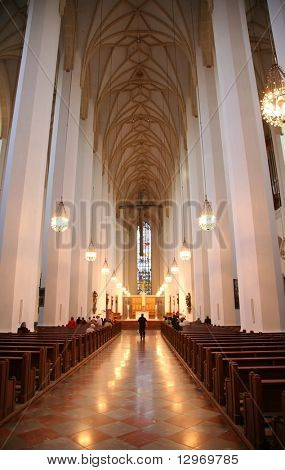 interior of cathedral