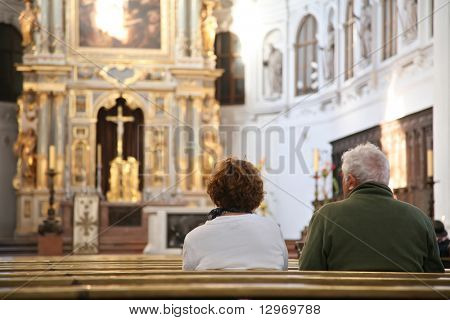 visitors in cathedral
