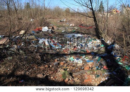 Garbage Dump In The Nature