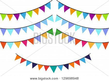 Flaglets used in cultural festivals and parties. Editable Clip Art.