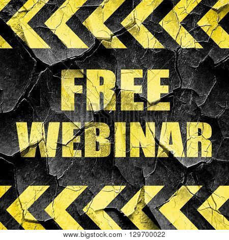 free webinar, black and yellow rough hazard stripes