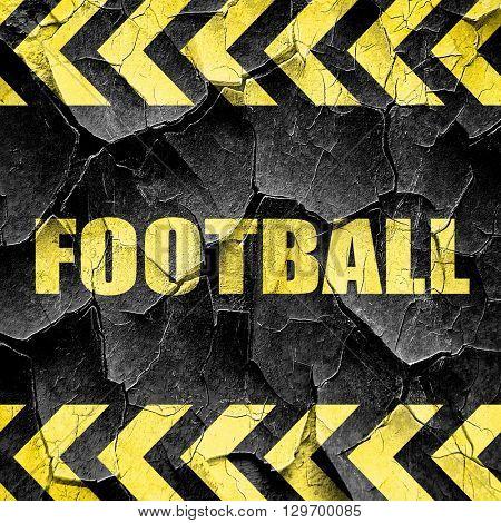 football, black and yellow rough hazard stripes