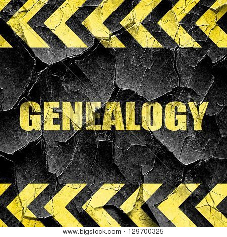genealogy, black and yellow rough hazard stripes