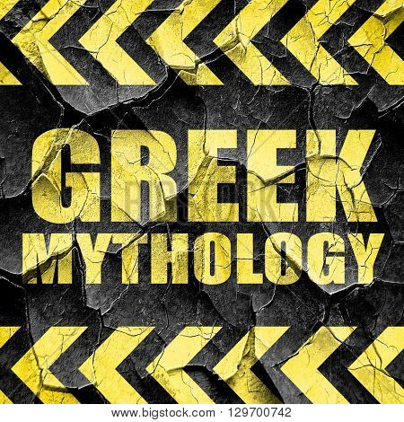 greek mythology, black and yellow rough hazard stripes