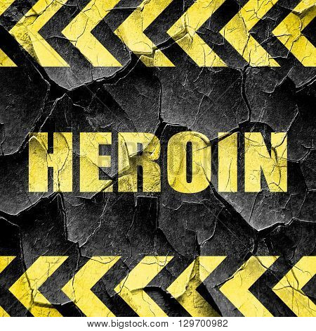 heroin, black and yellow rough hazard stripes