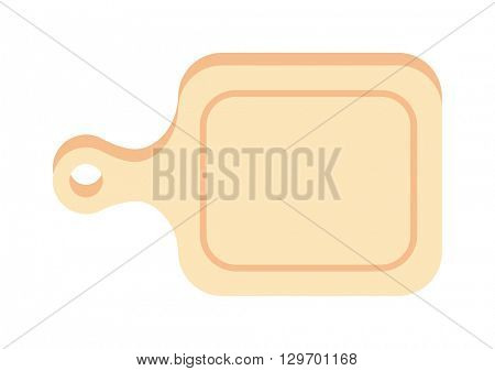 Cutting cooking board wooden kitchen tool vector illustration
