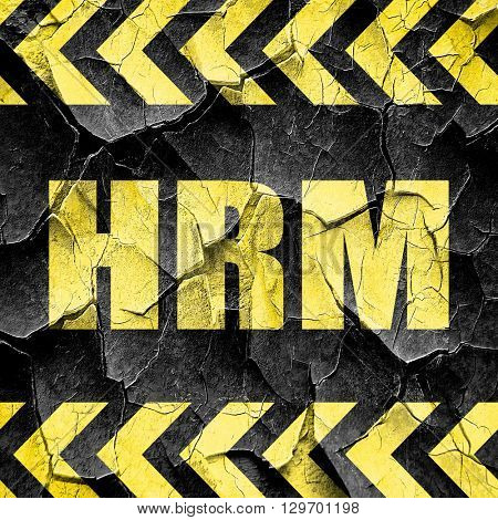 hrm, black and yellow rough hazard stripes