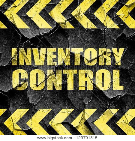 inventory control, black and yellow rough hazard stripes