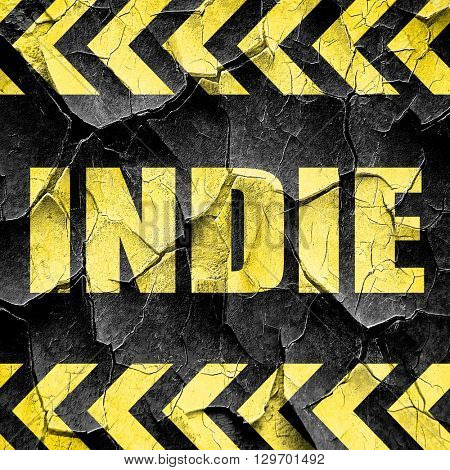 indie, black and yellow rough hazard stripes