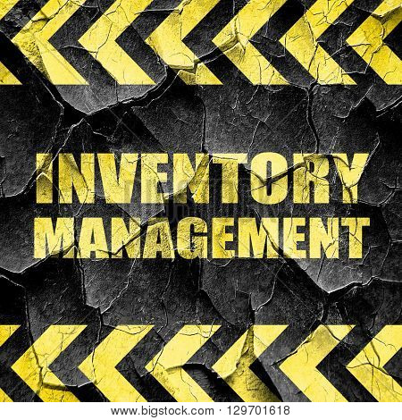 inventory management, black and yellow rough hazard stripes