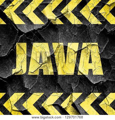 java, black and yellow rough hazard stripes