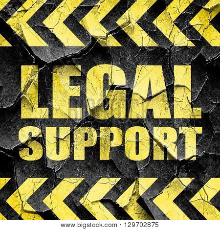 legal support, black and yellow rough hazard stripes