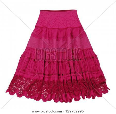 red skirt isolated on white background