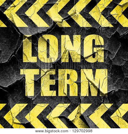 long term, black and yellow rough hazard stripes