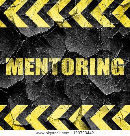 mentoring, black and yellow rough hazard stripes