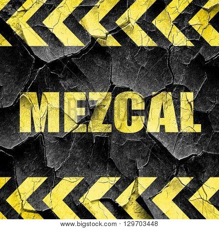 mezcal, black and yellow rough hazard stripes
