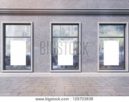 Windows With Blank Posters