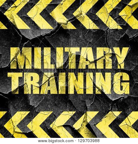 military training, black and yellow rough hazard stripes