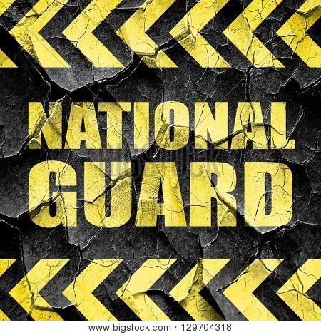 national guard, black and yellow rough hazard stripes